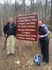 Erin Hiking with Dad on the Appalachian Trail