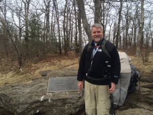 At the start of the Appalachian Trail