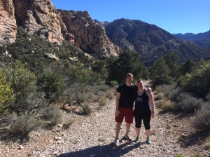 Brandon and Chele Hiking